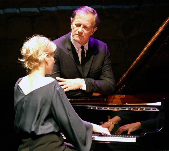 Francis Huster joue Vladimir Horowittz avec Claire-Marie Le Guay (Photo DR)